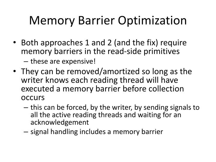 Memory Barrier Optimization
