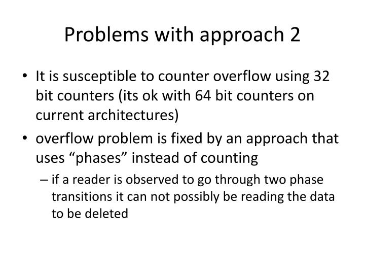 Problems with approach 2