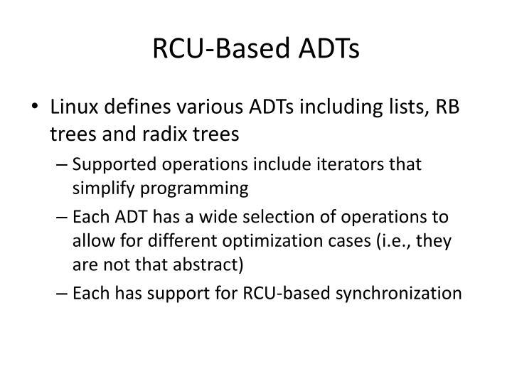 RCU-Based ADTs