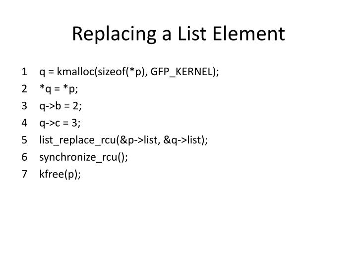 Replacing a List Element