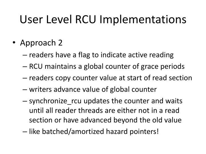 User Level RCU Implementations
