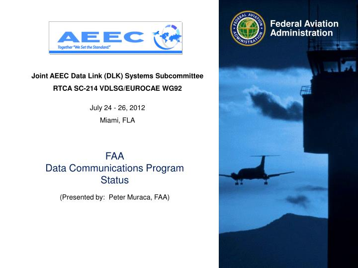 Joint AEEC Data Link (DLK) Systems Subcommittee