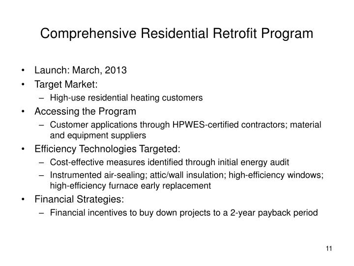 Comprehensive Residential Retrofit Program