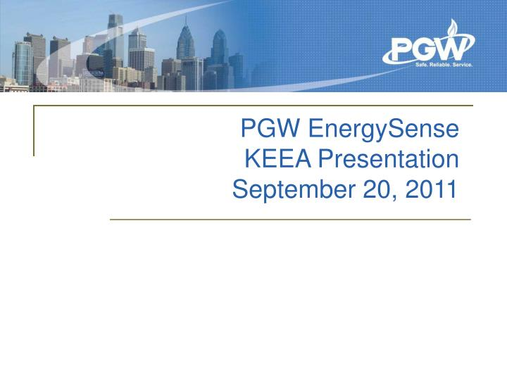 Pgw energysense keea presentation september 20 2011