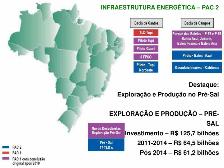 INFRAESTRUTURA ENERGÉTICA – PAC 2