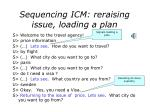 sequencing icm reraising issue loading a plan