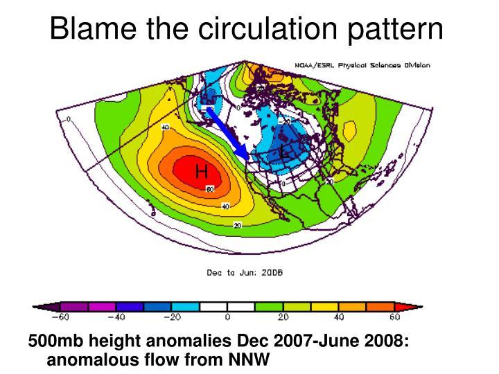 Blame the circulation pattern