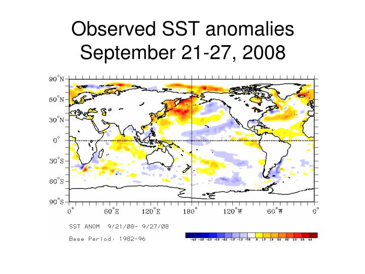 Observed SST anomalies
