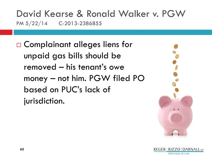 David Kearse & Ronald Walker v. PGW