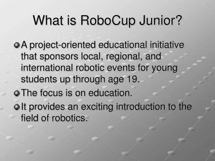 What is RoboCup Junior?