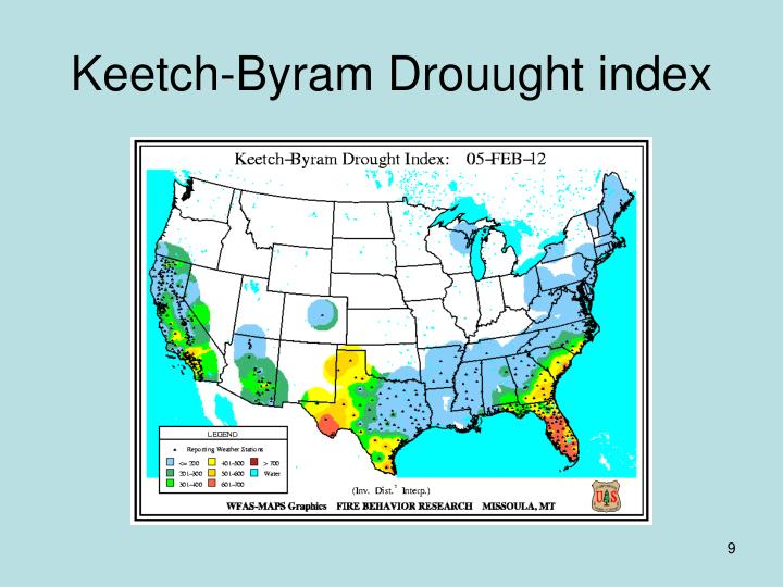 Keetch-Byram Drouught index