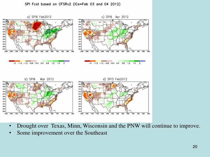 SPI forecasts based on CFSv2 (IC s Feb 3,4 2012