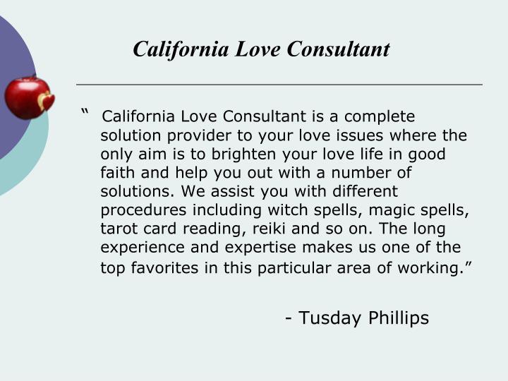 California Love Consultant
