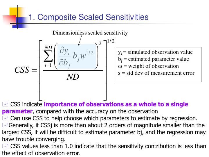 1. Composite Scaled Sensitivities