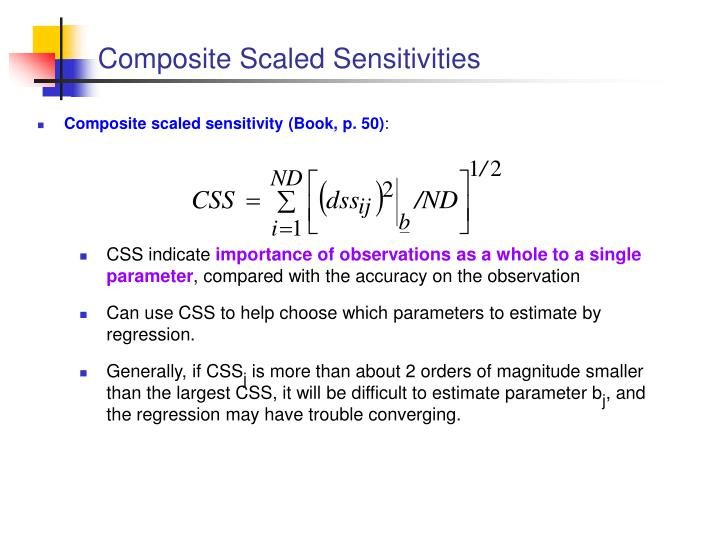 Composite Scaled Sensitivities