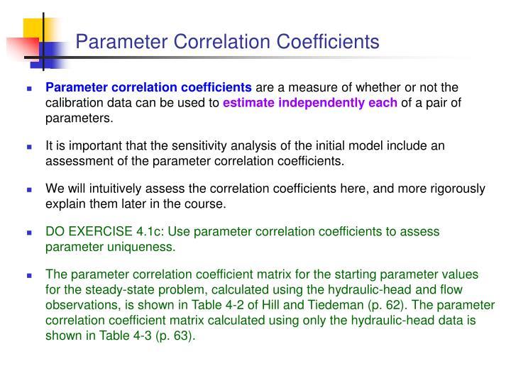 Parameter Correlation Coefficients