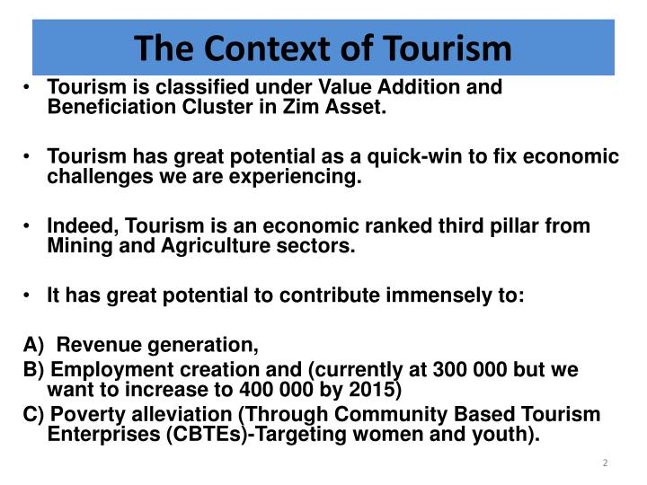 The Context of Tourism