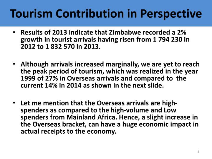 Tourism Contribution in Perspective