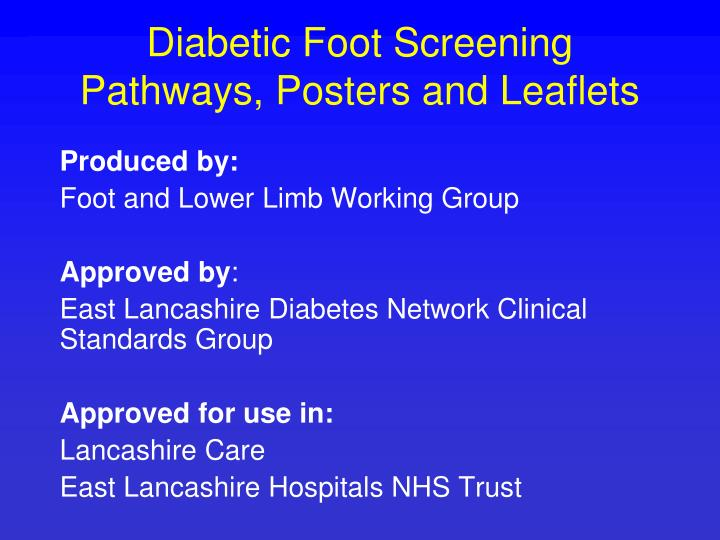 Diabetic foot screening pathways posters and leaflets