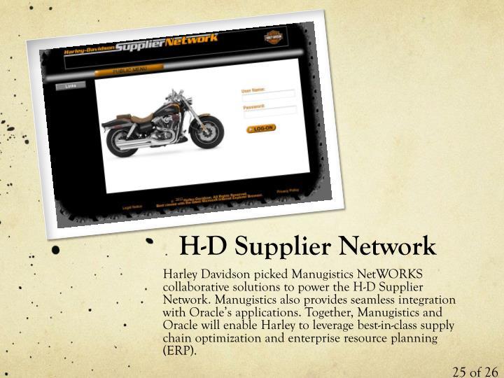 H-D Supplier