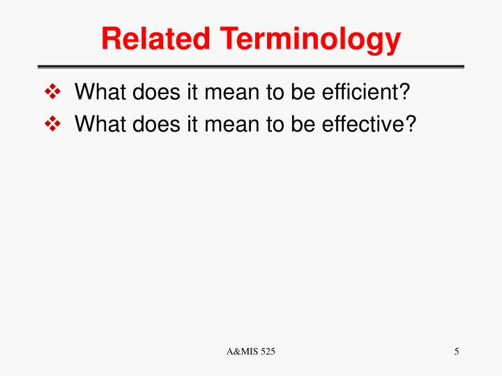 Related Terminology
