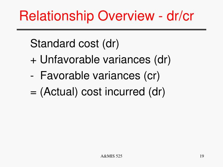 Relationship Overview - dr/cr