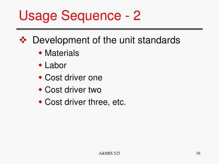 Usage Sequence - 2