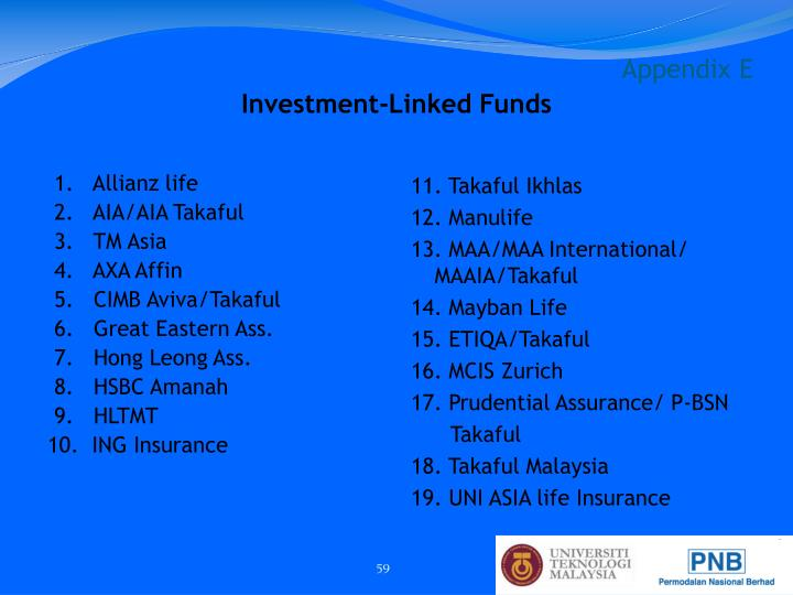 Investment-Linked Funds