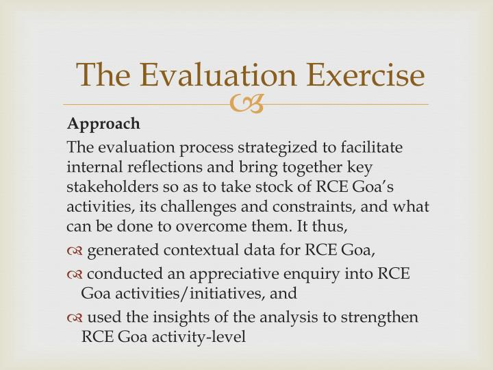 The Evaluation Exercise