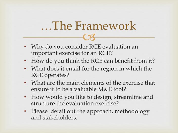 …The Framework