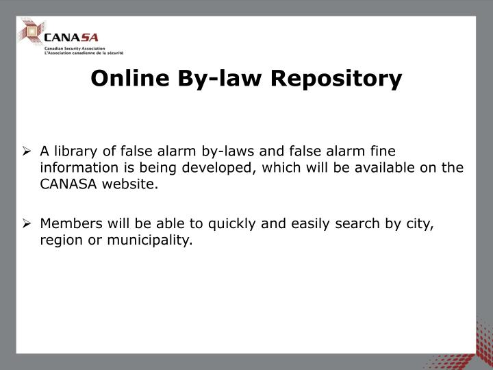 Online By-law Repository