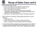 recap of delex case cont d