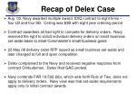 recap of delex case