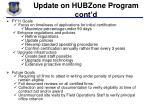 update on hubzone program cont d