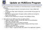 update on hubzone program