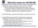 what this means for afcee sb