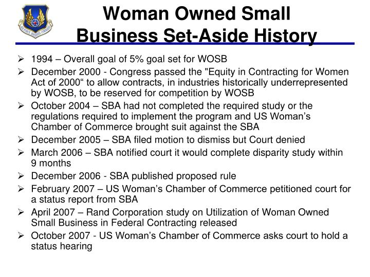 Woman Owned Small