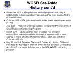 wosb set aside history cont d