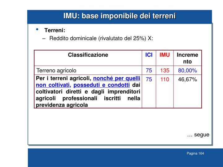 IMU: base imponibile dei terreni