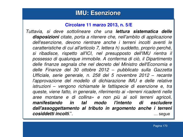 IMU: Esenzione