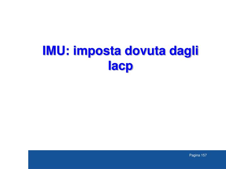 IMU: imposta dovuta dagli
