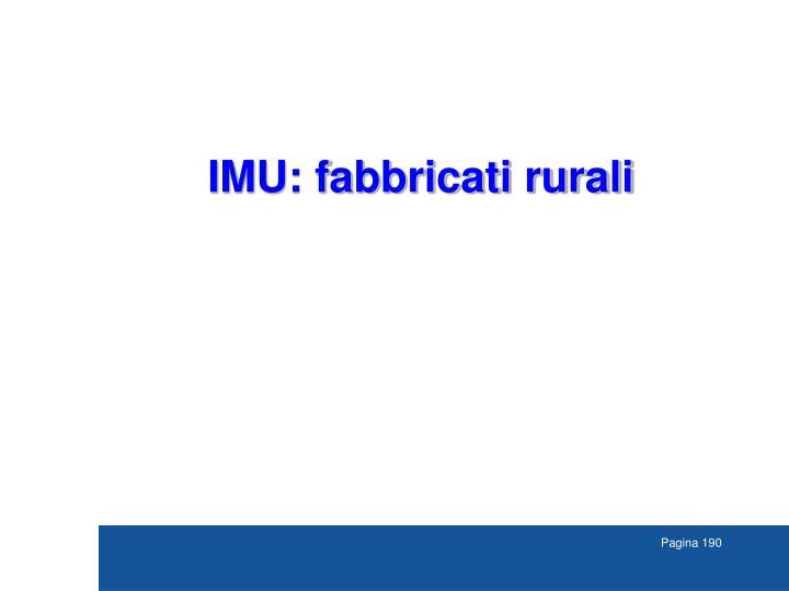 IMU: fabbricati rurali