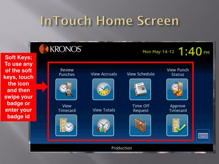 InTouch Home Screen