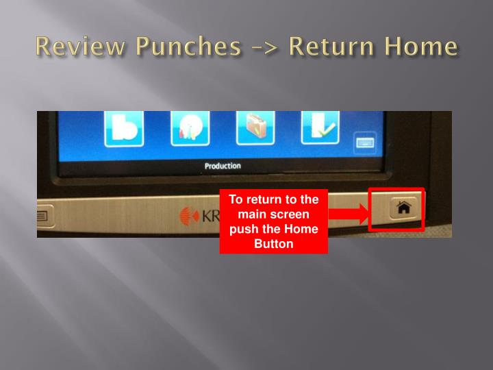 Review Punches –> Return Home