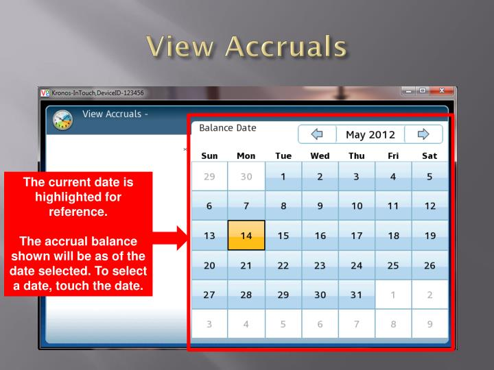 View Accruals