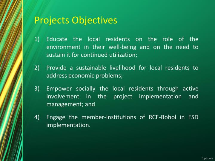 Projects objectives