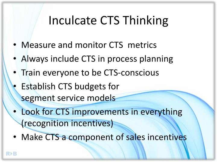 Inculcate CTS Thinking
