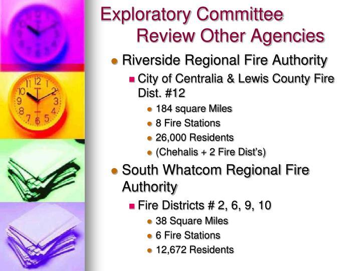Exploratory Committee