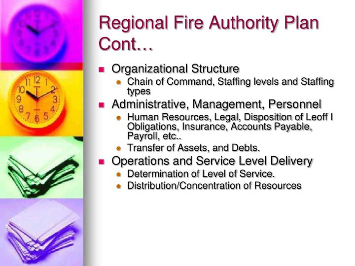 Regional Fire Authority Plan Cont…