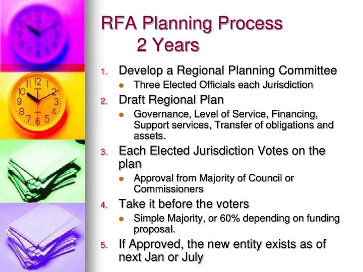 RFA Planning Process